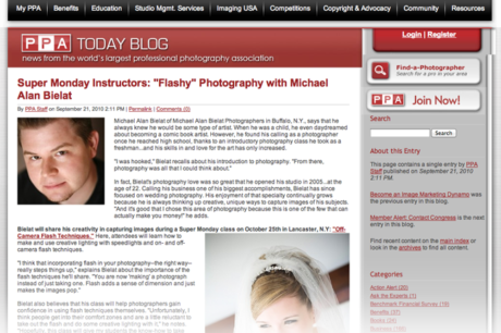 Buffalo Photography Instructor Michael Alan Bielat