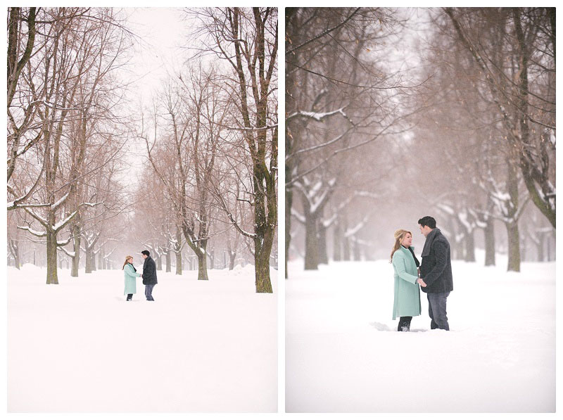 buffalo ny winter engagement session