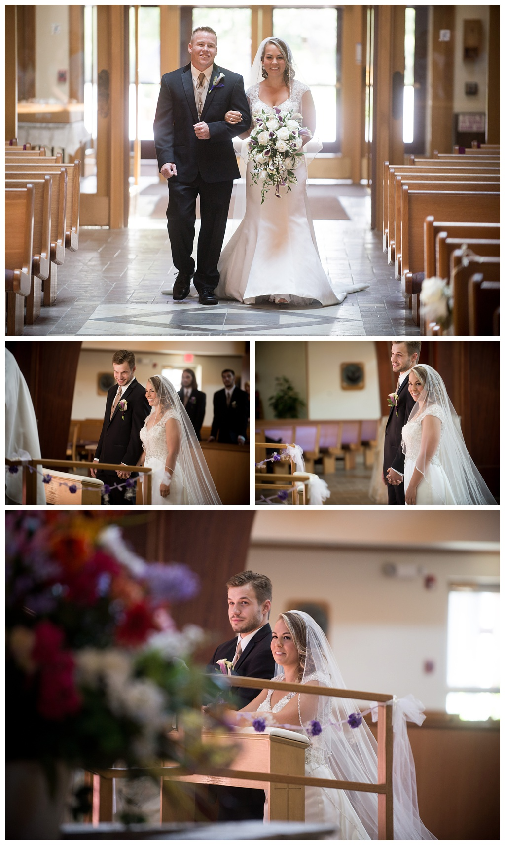 St. Gabriel of Our Lady of Sorrows, Elma NY wedding ceremony by alyissa & michael photography
